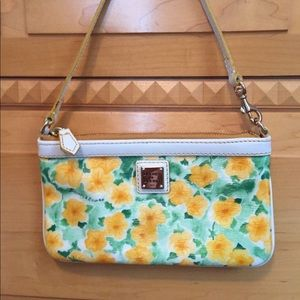 Dooney & Bourke Yellow Flower Wristlet